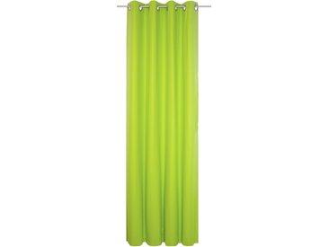 Vorhang, WirthNatur, Wirth, Ösen 1 Stück 5, H/B: 260/130 cm, blickdicht / energiesparend, grün Blickdichte Vorhänge Gardinen Gardine