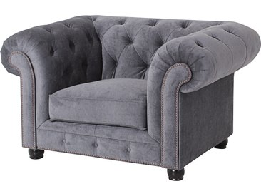Max Winzer Chesterfield-Sessel Old England, mit edler Knopfheftung Microfaser 20441 grau Chesterfield Sessel