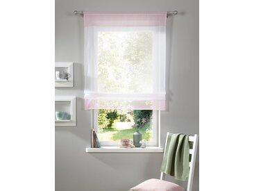 Bändchenrollo Xana, my home, mit Stangendurchzug 5, H/B: 120/80 cm, transparent, rosa Kinder Kinderzimmer-Rollos Rollos Jalousien Raffrollo