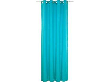 Vorhang, WirthNatur, Wirth, Ösen 1 Stück 5, H/B: 260/130 cm, blickdicht / energiesparend, blau Blickdichte Vorhänge Gardinen Gardine