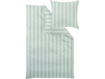 Nackenrollenbezug Como Curt Bauer 1x 15x40 cm, Mako-Brokat-Damast grün Nackenkissen Kissen Kissenbezüge