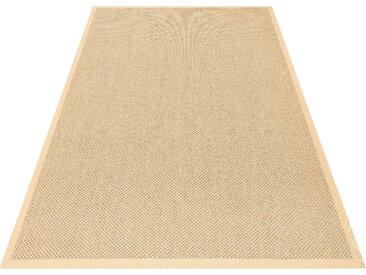my home Sisalteppich Franco, rechteckig, 5 mm Höhe, echt Sisal, Wohnzimmer 7, 240x320 cm, gelb Schlafzimmerteppiche Teppiche nach Räumen