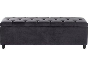 Guido Maria Kretschmer Home&Living Bettbank Relaxy Luxus-Microfaser, 100cm grau Bettbänke Sitzbänke Stühle