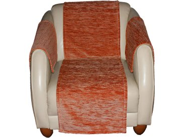 Sofaläufer, Miriam, Wirth, rechteckig, Höhe 5 mm 9, 130x200 cm, orange Sesselschoner Hussen Überwürfe Teppiche