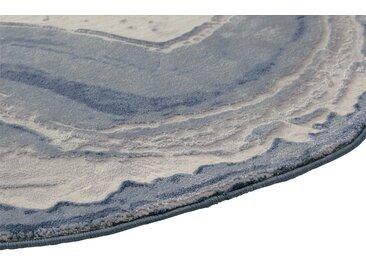 Teppich Quarzstein Design 5, ca. 200 cm, rund blau Runde Teppiche Weitere