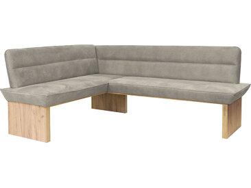 Premium collection by Home affaire Eckbank Beluna, mit Wellenunterfederung im Sitz B/H/T: 210 cm x 86 169 cm, Luxus-Microfaser, langer Schenkel rechts braun Eckbänke Sitzbänke Stühle