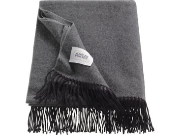 Wohndecke Wooly, SCHÖNER WOHNEN-Kollektion 130x180 cm, Schurwolle-Baumwolle-Polyacryl grau Kuscheldecken Decken Wohndecken