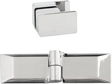 Dusbad Badewannenfaltwand Vital 1 Aufsatz/ Drehfalttür, Anschlag links 120 cm Einheitsgröße farblos Duschwände Duschen Bad Sanitär