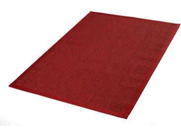 Dekowe Sisalteppich Mara S2 mit Bordüre, rechteckig, 5 mm Höhe, Flachgewebe, Obermaterial: 100% Sisal, Wohnzimmer B/L: 200 cm x 290 cm, 1 St. rot Teppiche