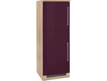HELD MÖBEL Kühlumbauschrank Samos, 60 cm breit x 165 (B H T) cm, 2-türig lila Umbauschränke Küchenschränke Küchenmöbel Schränke