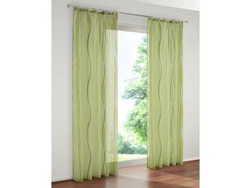 my home Gardine Dimona 145 cm, Kräuselband, 140 cm grün Wohnzimmergardinen Gardinen nach Räumen Vorhänge