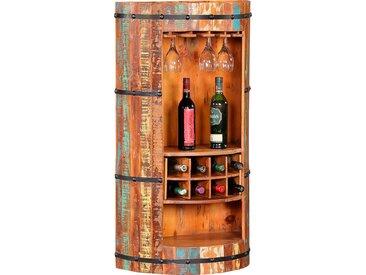 Ploß Barschrank, aus recyceltem Altholz mit Farbresten, Shabby Chic, Vintage B/H/T: 60 cm x 115 30 beige Essgruppen Tische Barschrank