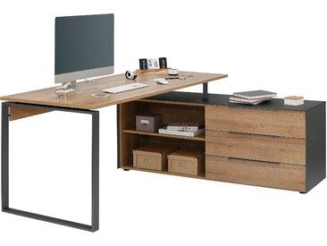 Maja Möbel Eckschreibtisch Yolo-1523 Tischplatte: Holzwerkstoff, Gestell: Metall grau Eckschreibtische Bürotische und Schreibtische Büromöbel Tisch
