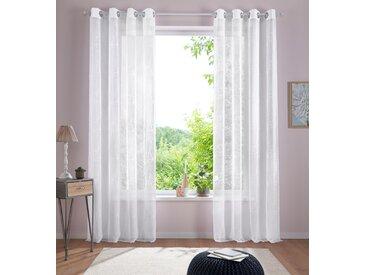 Gardine, Adele, Home affaire, Ösen 1 Stück 5, H/B: 265/130 cm, transparent, weiß Fertiggardinen Gardinen Vorhänge Gardine