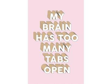 queence Leinwandbild Spruch Brain 80x120 cm rosa Leinwandbilder Bilder Bilderrahmen Wohnaccessoires