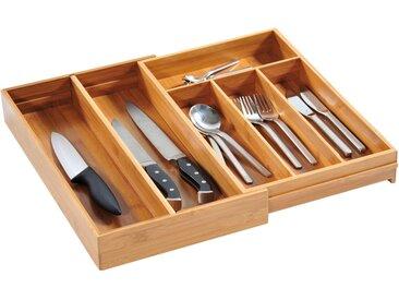 KESPER for kitchen & home Besteckkasten, variabel ausziehbar, Bambus B/H/T: 26 cm x 6 43 beige Küchen-Ordnungshelfer Küchenhelfer Küche Besteckkasten