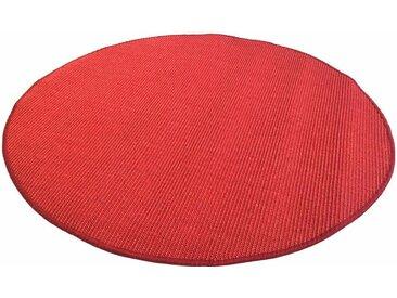Living Line Sisalteppich Trumpf, rund, 6 mm Höhe, Obermaterial: 100% Sisal, Wohnzimmer Ø 300 cm, 1 St. rot Esszimmerteppiche Teppiche nach Räumen