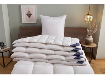Excellent Daunenbettdecke + 3-Kammer-Kopfkissen Wien, (Spar-Set) weiß, 1x 135x200 cm 80x80 weiß Daunendecke Bettdecken Bettdecken, Kopfkissen Unterbetten Bettwaren-Sets