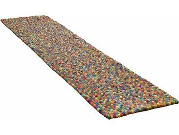 Läufer, Ballo, THEKO, rechteckig, Höhe 22 mm, handgewebt 12, 70x270 cm, mm bunt Teppichläufer Läufer Bettumrandungen Teppiche