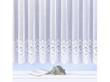 Gardine, Homburg, Weckbrodt, Kräuselband 1 Stück 17, H/B: 175/450 cm, halbtransparent, weiß Gardinen nach Aufhängung Vorhänge Gardine