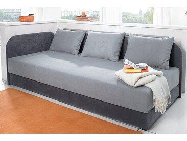 Maintal Polsterliege Liegehöhe 38 cm, Liegefläche B/L: 80 cm x 200 kein Härtegrad, 5-Zonen-Komfortpolsterung grau Polsterliegen Gästebetten Betten