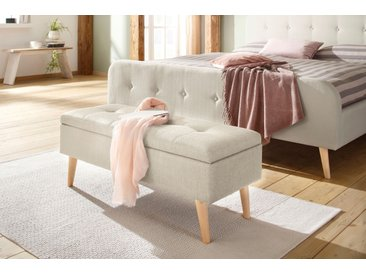 Home affaire Bank Zena Struktur fein, 100cm beige Bettbänke Sitzbänke Stühle