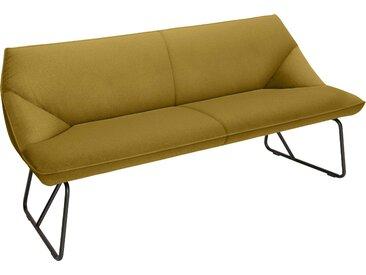 TOM TAILOR Sitzbank CUSHION, mit schmalem Metallgestell, Breite 184 cm B/H/T: x 83 65 cm, Struktur fein TBO gelb Tom Tailor Stühle und Sitzbänke Premium-Möbel