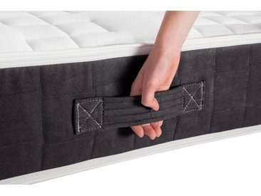 Boxspringmatratze Luther Anthrazit, DELAVITA, 24 cm hoch
