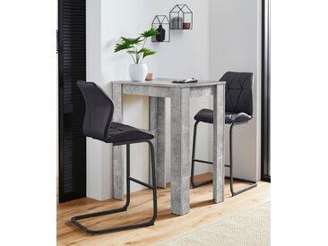 Homexperts Bargruppe Nika-Indira 0, Einheitsgröße grau Bartische, Theken Tresen Barmöbel Küchenmöbel Sitzmöbel-Sets
