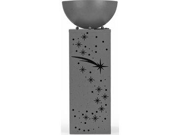 EASYmaxx LED Dekolicht Ginko, 1 St., Warmweiß, In- und Outdoor, LED-Dekosäule Rost-Optik, 59 cm Ø 25 Höhe: 63,5 cm, St. grau LED-Lampen LED-Leuchten SOFORT LIEFERBARE Lampen Leuchten