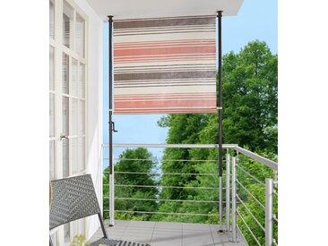 Angerer Freizeitmöbel Klemm-Senkrechtmarkise Nr. 5100, rot/beige/braun, BxH: 150x275 cm 150 rot Markisen Garten Balkon