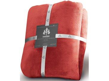Irisette Wohndecke Castel 8900, mit schmaler Einfassung 150x200 cm, Kunstfaser rot Kuscheldecken Decken Wohndecken