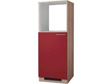 wiho Küchen Backofen/Kühlumbauschrank Montana, 60 cm breit x 165 57 (B H T) cm, 1-türig rot Umbauschränke Küchenschränke Küchenmöbel Schränke
