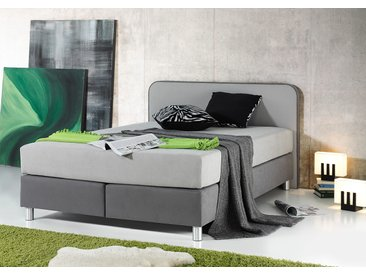 Maintal Boxspringbett 100x200 cm, Bonnell-Federkernmatratze, H2 grau Einzelbetten Betten Komplettbetten