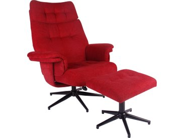 Duo Collection Relaxsessel Peers Webstoff rot Sessel