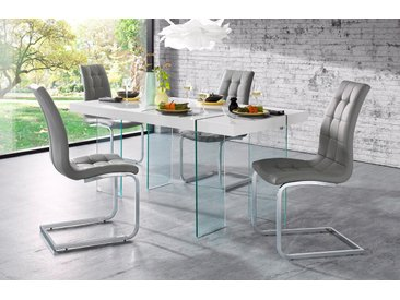 Esstisch Travis, Breite 160 cm, Gestell aus Glas B/H/T: cm x 75 90 weiß Esstische rechteckig Tische