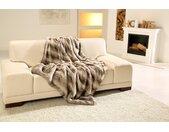 Gözze Wohndecke Rentier Felloptik, warme Qualität B/L: 150 cm x 200 grau Kunstfaserdecken Decken