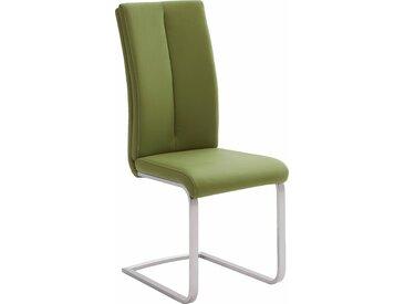 MCA furniture Freischwinger Paulo 2, Stuhl belastbar bis 120 kg B/H/T: 42 cm x 104 61 cm, 4 St., Kunstleder uni, Set grün Polsterstühle Stühle Sitzbänke