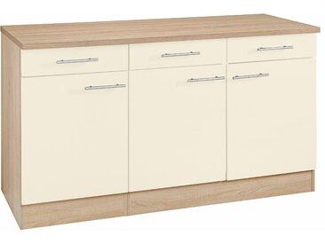 OPTIFIT Unterschrank Kalmar, Breite 150 cm, mit viel Stauraum B/H/T: cm x 85 60 3 beige Unterschränke Küchenschränke Küchenmöbel