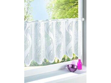 Scheibengardine 60 cm, Durchzuglöcher, 120 cm weiß Wohnzimmergardinen Gardinen nach Räumen Vorhänge