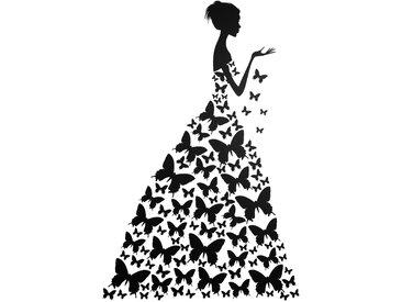 Home affaire Wandtattoo Schmetterlingsfrau 0, 120/79 cm, 120x79 cm schwarz Wandtattoos Tiere und Wandsticker Wohnaccessoires
