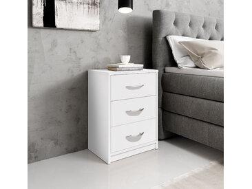 Schlafkontor Nachttisch Pepe B/H/T: 38,5 cm x 54,2 28,2 weiß Nachtkonsolen und Nachtkommoden Nachttische Tische