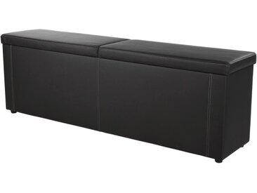 Jockenhöfer Gruppe Bettbank, in 2 Breiten, inkl. Stauraum B/H/T: 184 cm x 62 45 cm, Kunstleder schwarz Bettbänke Sitzbänke Stühle Bettbank