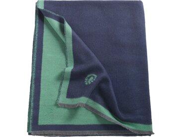 Sportalm Kitzbühel Wohndecke Mojito, mit feinen Fransen B/L: 150 cm x 200 blau Baumwolldecken Decken