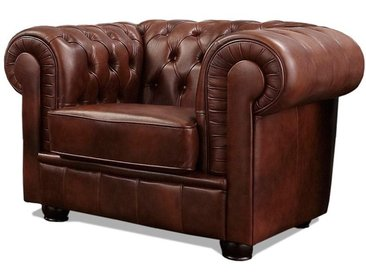Max Winzer Chesterfield-Sessel Kent NaturLEDER® braun Chesterfield Sessel