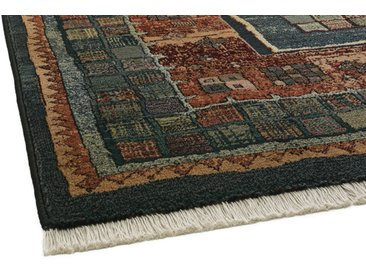 Webteppich Antik gehaltende Kästchenmuster 7, ca. 80/295 cm, (Läufer) blau Schlafzimmerteppiche Teppiche nach Räumen