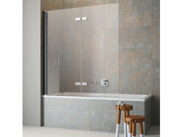 maw Badewannenfaltwand FL8400, mit Antikalk-Versiegelung Einheitsgröße schwarz Duschwände Duschen Bad Sanitär