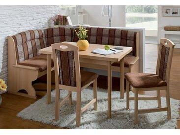 SCHÖSSWENDER Essgruppe Luzern, (Set, 4 tlg.), Eckbank ist umstellbar, mit Truhe, Tisch Auszug links und rechts 30 cm beige Eckbankgruppen Tische Sitzmöbel-Sets
