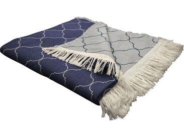 Wohndecke Indian Cortezada, Adam 145x190 cm, Baumwolle blau Kuscheldecken Decken Wohndecken