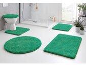 Kleine Wolke Badematte RELAX, Höhe 30 mm, rutschhemmend beschichtet, fußbodenheizungsgeeignet rechteckig (50 cm x 80 cm), 1 St., Polyacryl grün Einfarbige Badematten